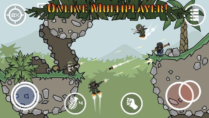 Doodle Army 2 Mini Militia APK MOD imagen 1