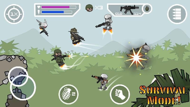 Doodle Army 2 Mini Militia APK MOD imagen 2
