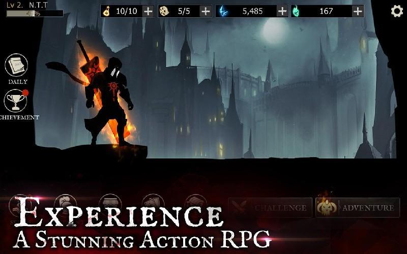 Shadow of Death Dark Knight - Stickman Fighting APK MOD imagen 2