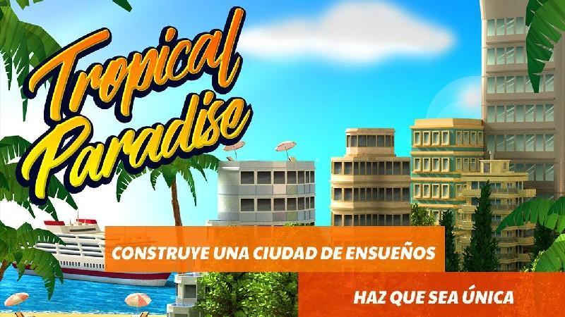 Tropic Paradise Sim Town Building City Island Bay APK MOD imagen 1