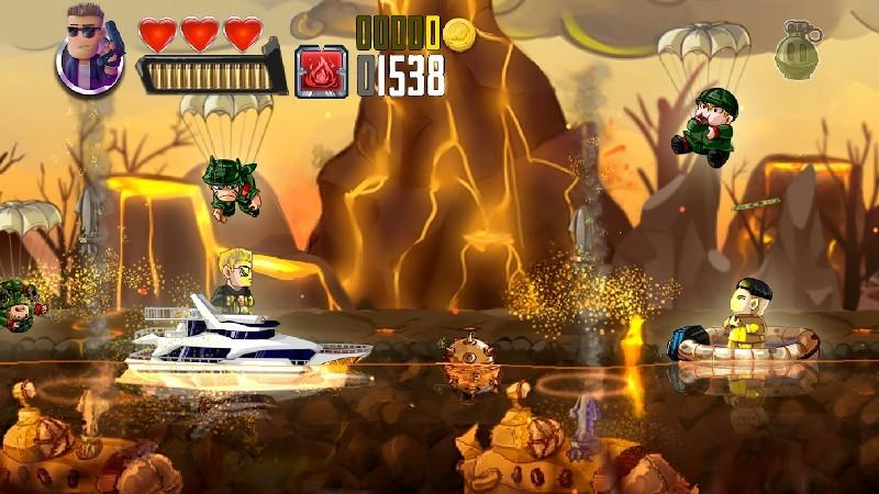 Ramboat - Jumping Shooter Game APK MOD imagen 2