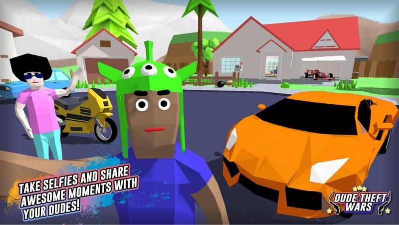 Dude Theft Wars Open World Sandbox Simulato APK MOD imagen 3