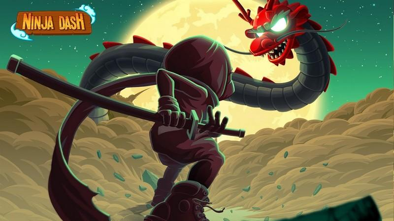 Ninja Dash - Ronin Jump RPG APK MOD imagen 1