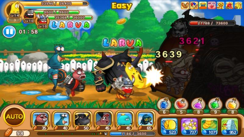 Larva Heroes Lavengers 2018 APK MOD imagen 2