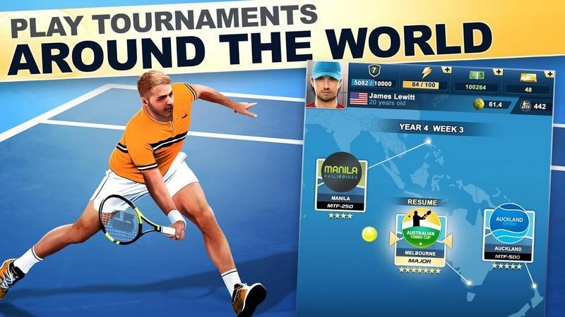 TOP SEED Tennis Sports Management Simulation Game APK MOD imagen 1