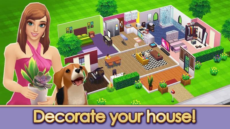 Home Street - Home Design Game APK MOD imagen 1