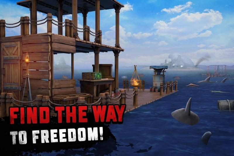 Survival on Raft Ocean Nomad - Simulator APK MOD imagen 1