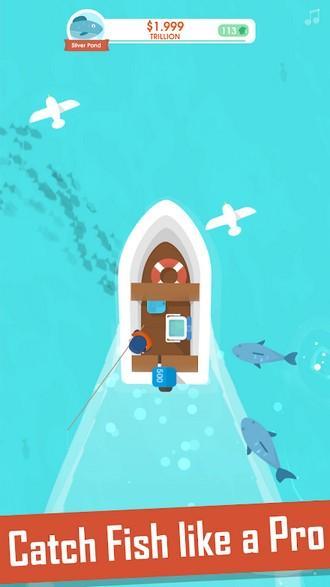 Hooked Inc Fisher Tycoon APK MOD imagen 2