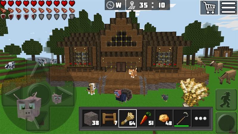 WorldCraft 3D Build & Craft APK MOD imagen 2