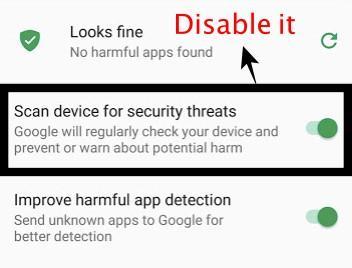 Explorar dispositivo en busca de amenazas de seguridad