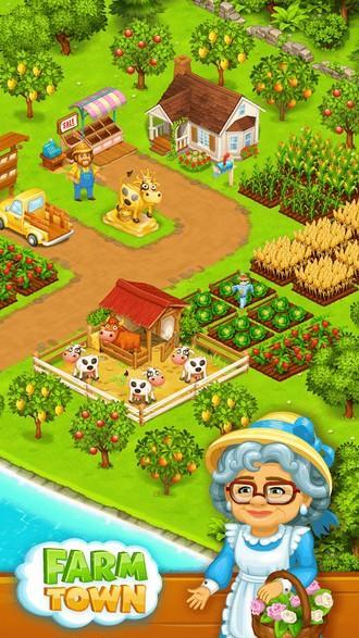 Farm Town Happy farming Day APK MOD imagen 1