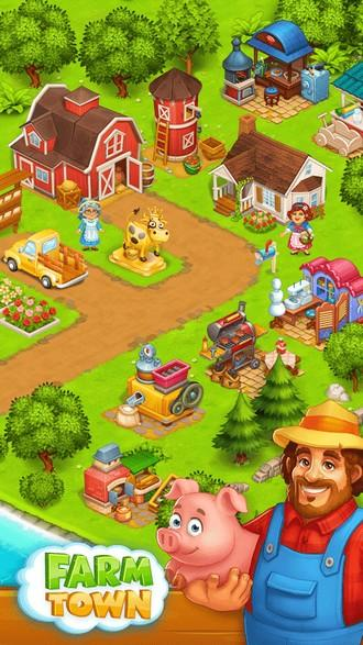 Farm Town Happy farming Day APK MOD imagen 2