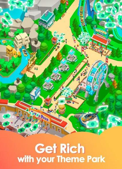 Idle Theme Park Tycoon - Recreation Game APK MOD imagen 2