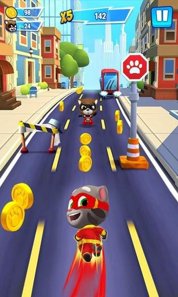 Talking Tom Hero Dash APK MOD imagen 1