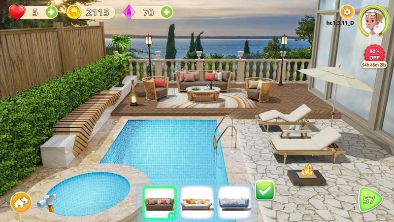 Homecraft - Home Design Game APK MOD imagen 1