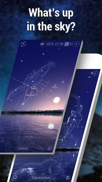 Star Walk 2 Free - Identify Stars in the Night Sky APK MOD imagen 1