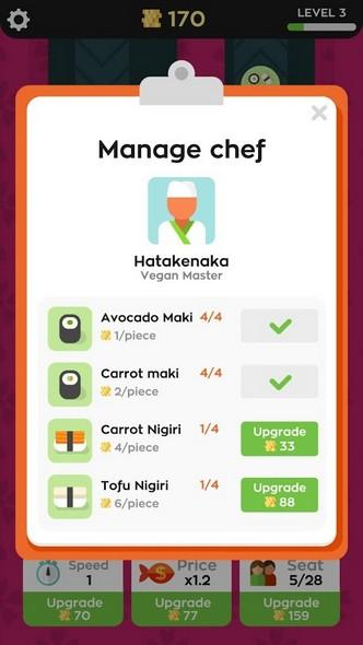 Sushi Bar APK MOD imagen 2