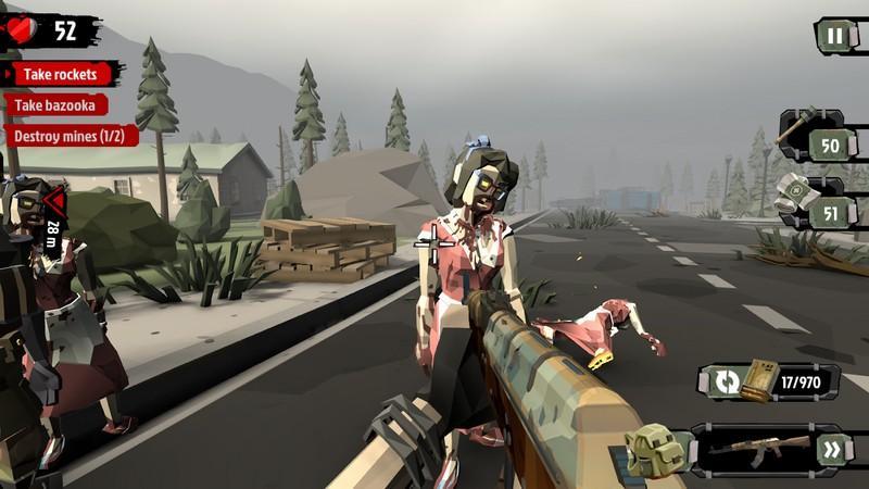 The Walking Zombie 2 Zombie shooter APK MOD imagen 1