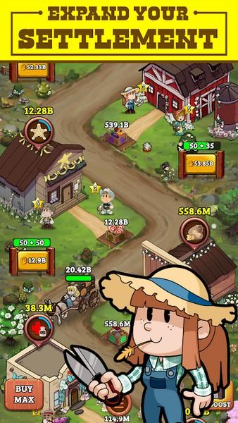 Idle Frontier Tap Town Tycoon APK MOD imagen 3