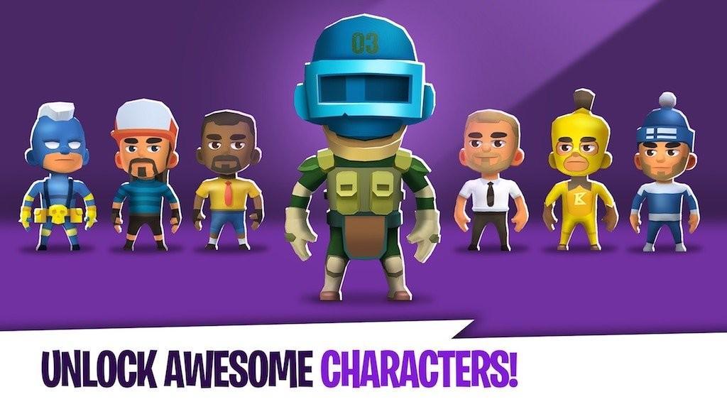 Battlelands Royale APK Personajes