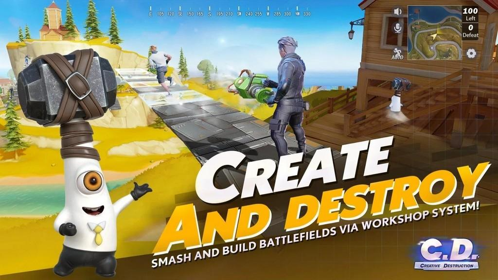 Creative Destruction APK Armas