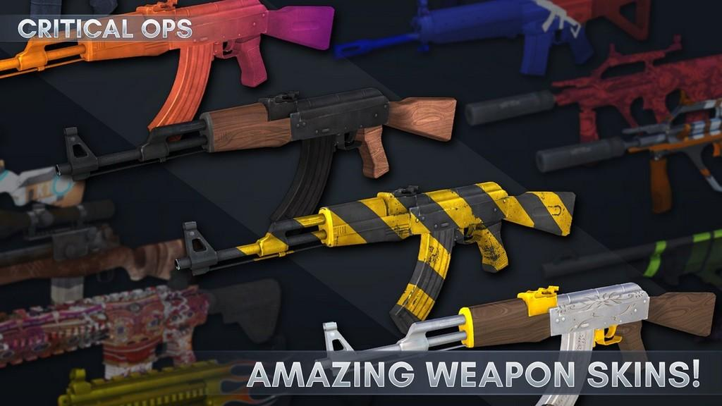 Critical Ops MOD APK - Sistema de armas