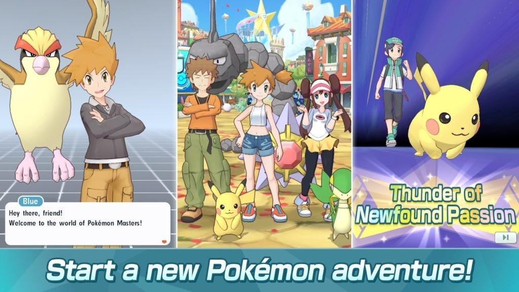 Pokémon Masters APK - Aventura Pokemon