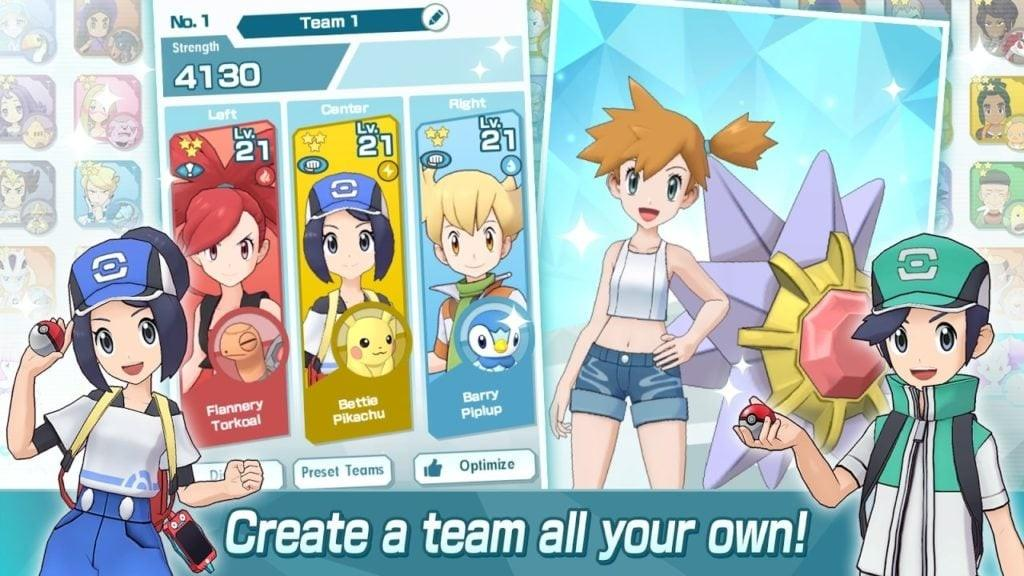 Pokémon Masters APK - Crea tu equipo