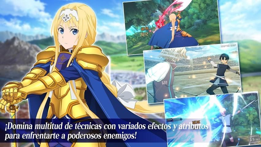 Sword Art Online Alicization Rising Steel APK MOD Imagen 4