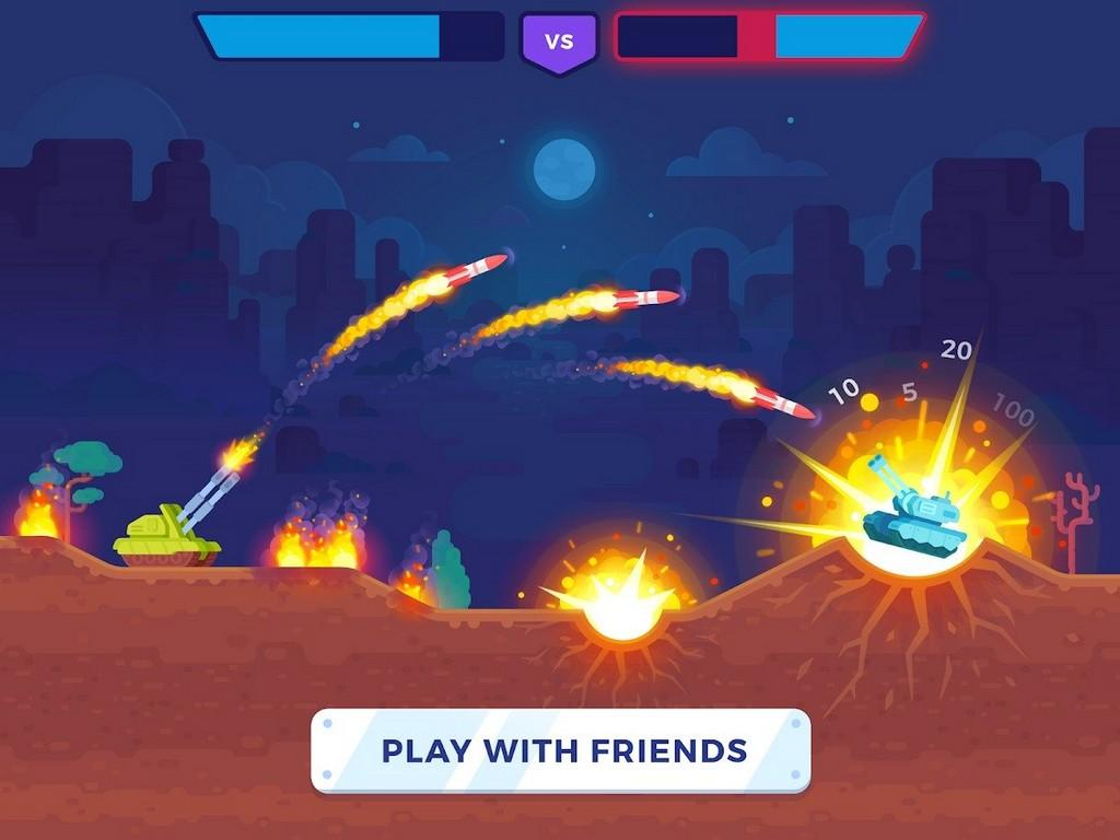 Tank Stars MOD APK - Gameplay