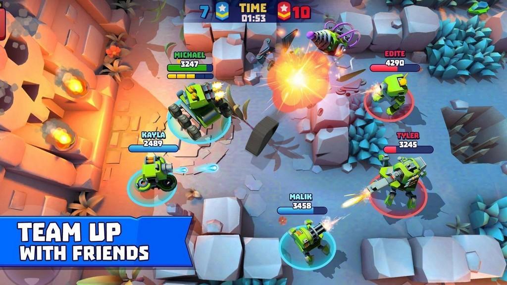 Tanks A Lot MOD APK -  Has equipo con tus amigos