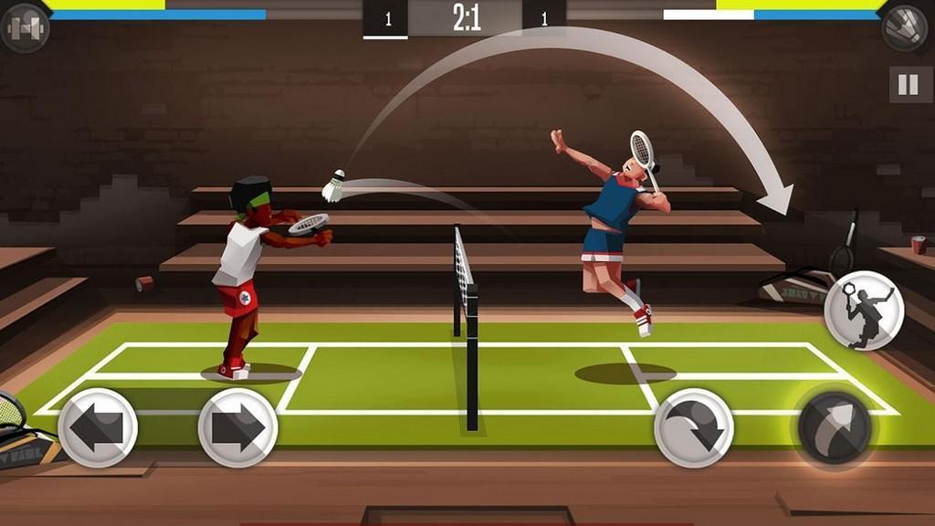 Badminton League MOD APK - Control