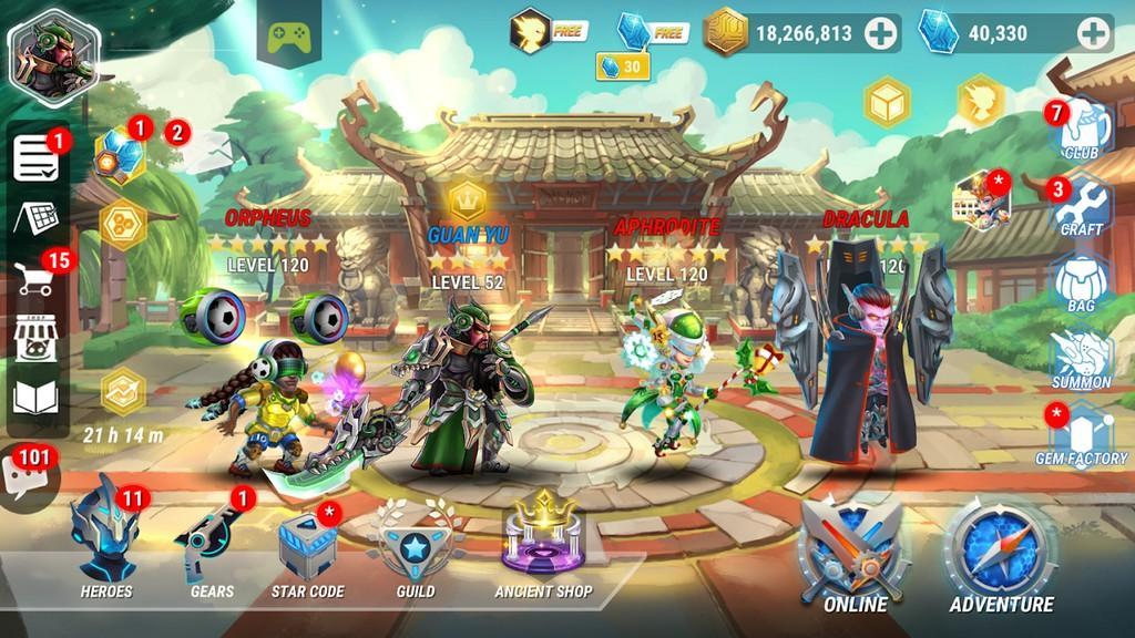 Heroes Infinity MOD APK - Trama del juego