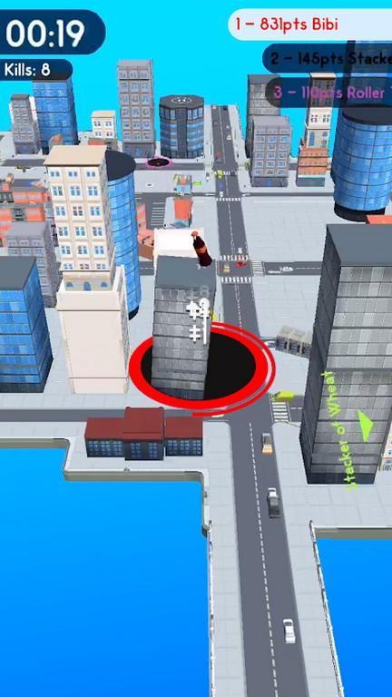Hole.io MOD APK - Gameplay