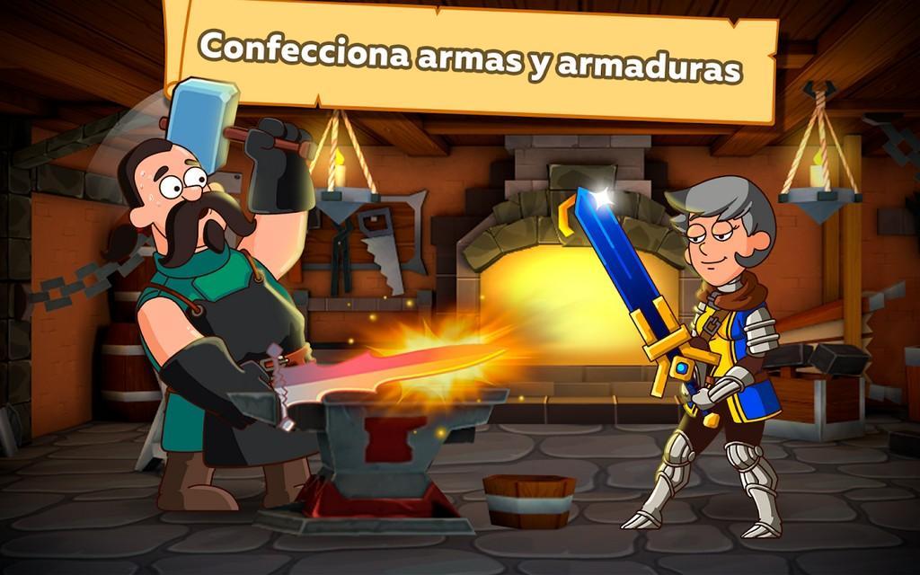 Hustle Castle MOD APK - Colecciona armas y armaduras