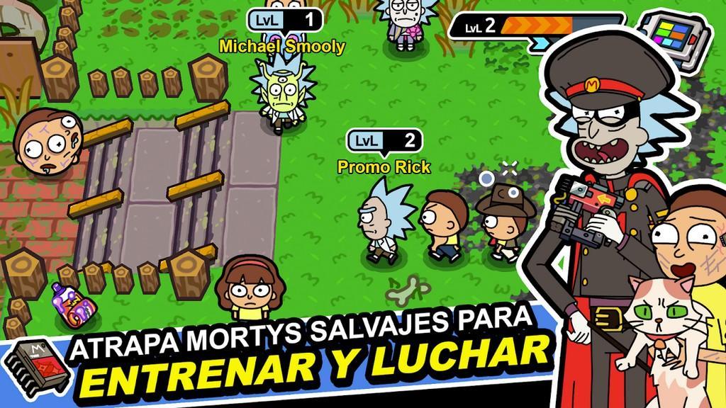 Pocket Mortys MOD APK - Gameplay