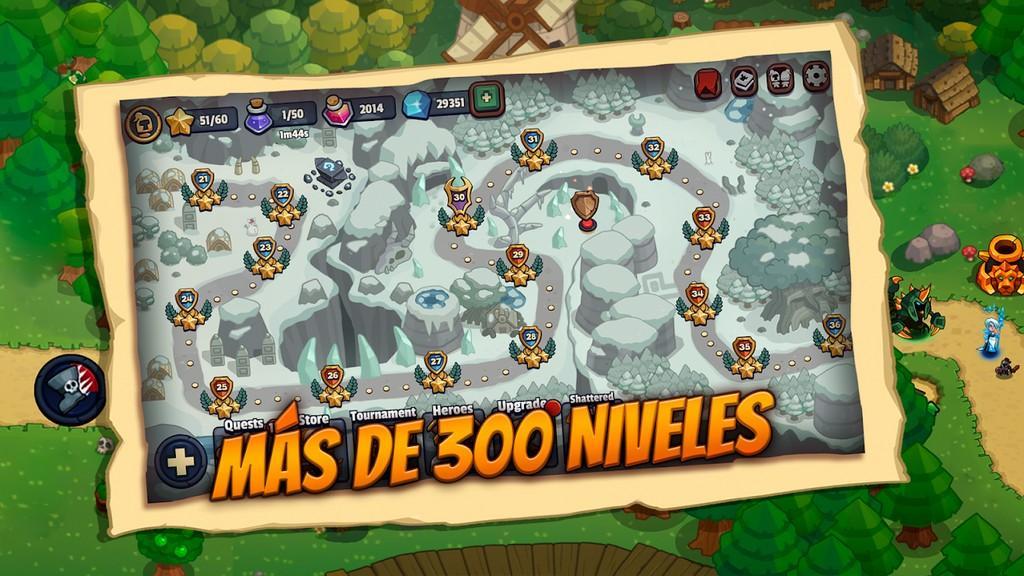 Más de 300 niveles