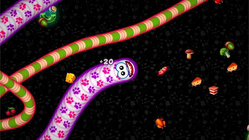 WormsZone.io – Voracious Snake APK MOD Imagen 1