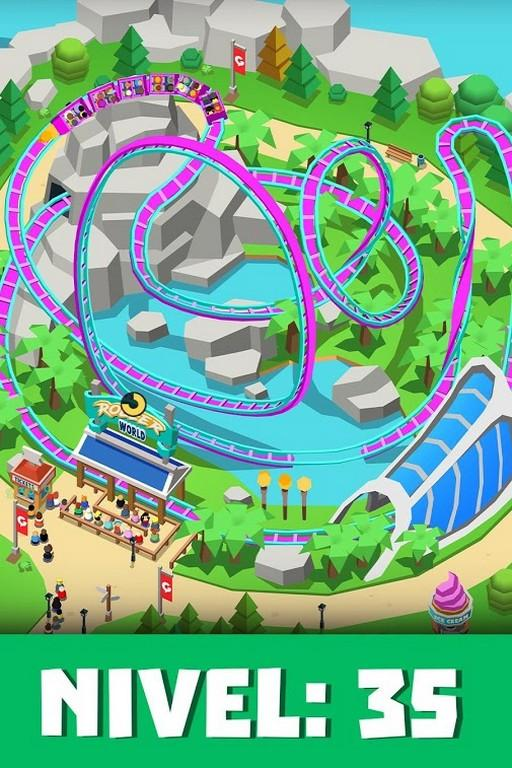 Idle Theme Park Tycoon MOD APK - Nivel: 35