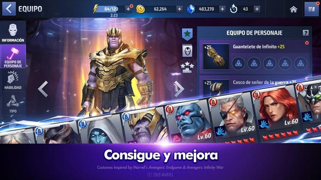 Marvel Future Fight APK - Consigue y mejora