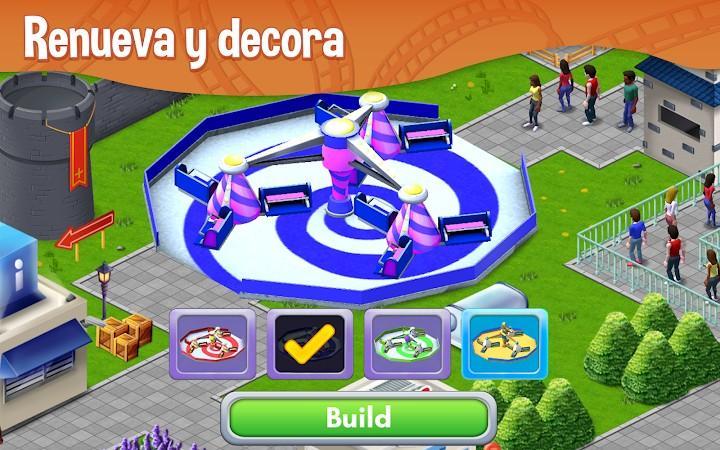 RollerCoaster Tycoon® Story APK MOD Imagen 1