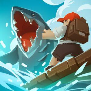 Epic Raft Fighting Zombie Shark Survival APK MOD