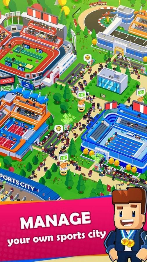Sports City Tycoon APK MOD imagen 1