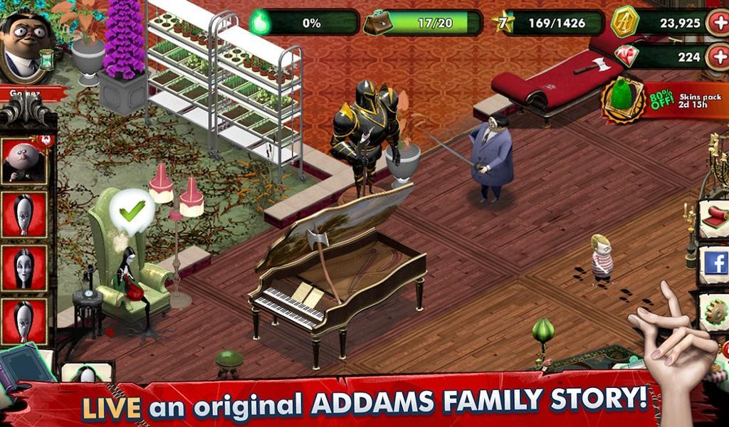 Addams Family Mystery Mansion APK MOD imagen 1