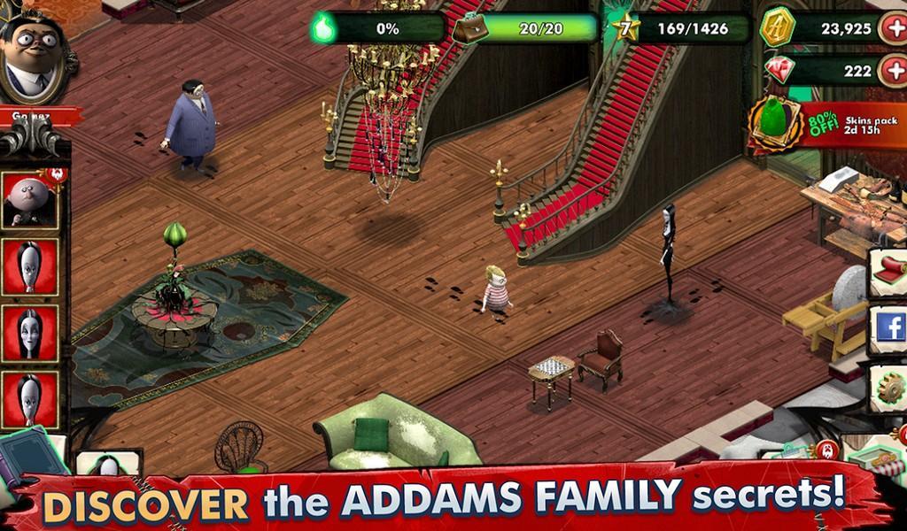 Addams Family Mystery Mansion APK MOD imagen 3
