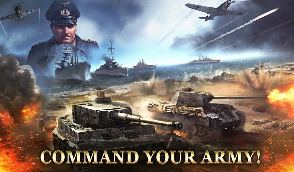 WW2 Strategy Commander Conquer Frontline APK MOD imagen 2