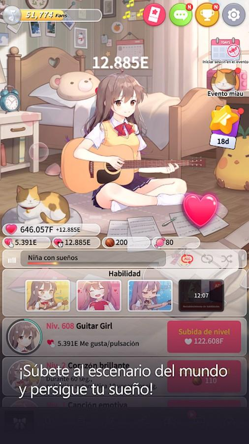 Guitar Girl APK MOD imagen 3